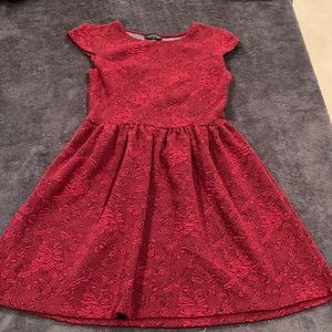 top shop red dress